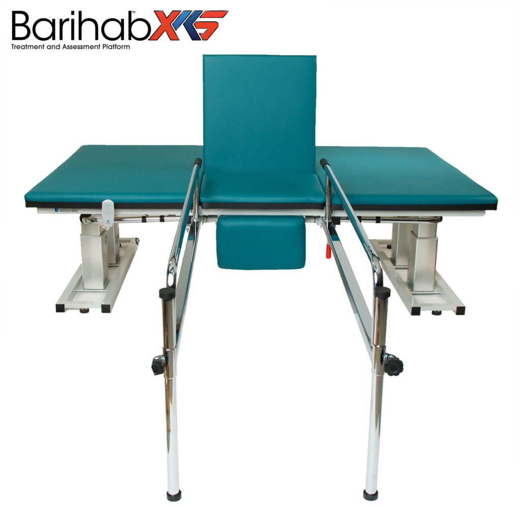 Patients that are between 500 and 1000lbs have few options for physical therapy treatments until now. The Barihab™ XKS was developed specifically to address the rehabilitation needs of these patients and the clinicians that treat them. The safest equipment ever developed, the Barihab™ XKS has a 1000lb lifting capacity and all of it's features are built to lift, hold and support the largest of patients.